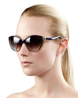 Alexander McQueen Cat-Eye Sunglasses, Violet
