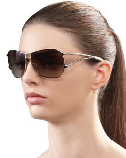 Jee Vice Catchy Crystal-Encrusted Sunglasses, Golden