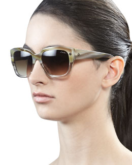 Lanvin Shiny Horn Sunglasses