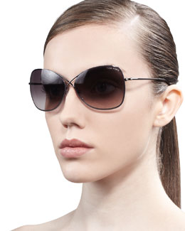Tom Ford Colette Metal-Frame Butterfly Sunglasses