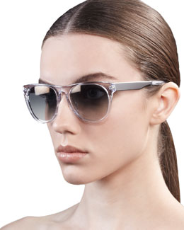 Oliver Peoples Braverman Sunglasses, Crystal