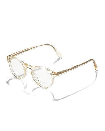 Gregory Peck Fashion Glasses, Buff