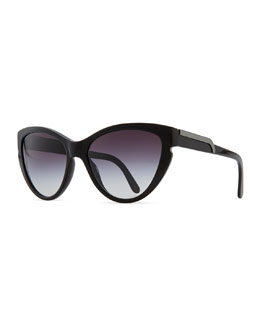 Stella McCartney Cat-Eye Sunglasses, Black