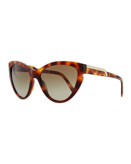 Stella McCartney Cat-Eye Sunglasses, Tortoise