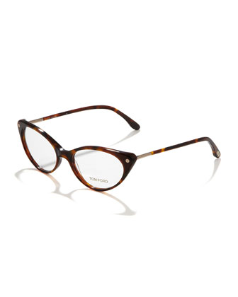 Cat-Eye Fashion Glasses, Vintage Havana
