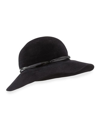 Moxi Lightweight Velour Hat, Black
