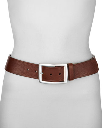 Contour Leather Jean Belt,Tan