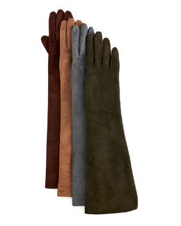 Portolano Elbow-Length Suede Gloves