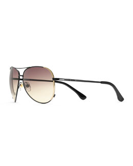 Michael Kors  Sicily Metal Aviator Sunglasses