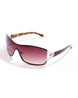 Michael Kors  Verona Rimless Shield Sunglasses