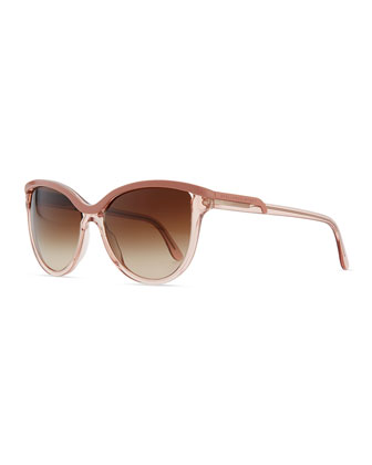 Semi-Round Clear/Opaque Sunglasses