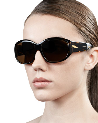 Rovella Oversized Oval Sunglasses, Colobolo