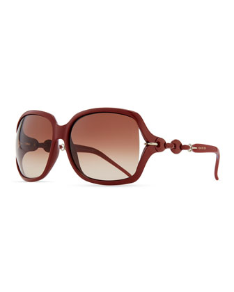Open-Temple Square Sunglasses, Brick
