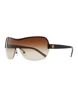 Tory Burch Shield Sunglasses, Black