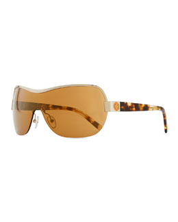 Tory Burch Shield Sunglasses, Golden
