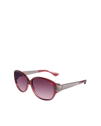 Stretched Wheaton Sunglasses, Garnet/Gunmetal