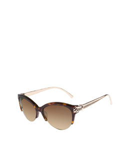 David Yurman Waverly Sunglasses, Tortoise/Gold