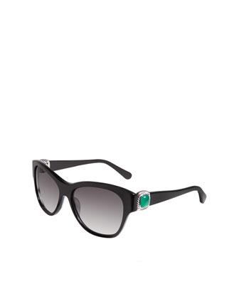 Albion Wayfarer Sunglasses, Black Onyx