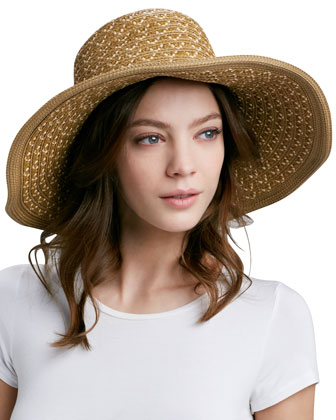 Squishee Shade Wide-Brim Hat, Natural