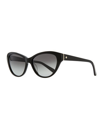 della cat-eye sunglasses, black