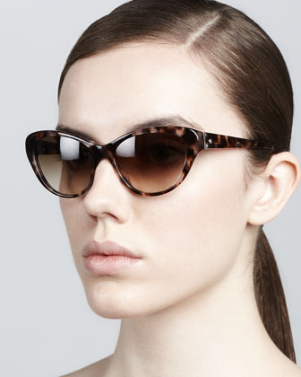 della cat-eye sunglasses, tortoise
