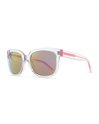 Clear Photochromic Sunglasses, Pink