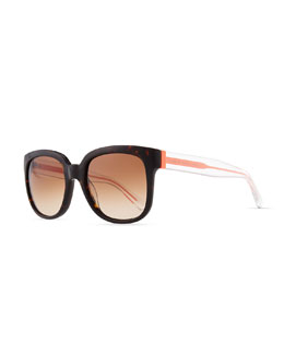 MARC by Marc Jacobs Clear-Arm Gradient Sunglasses, Havana/Orange