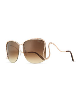 Roberto Cavalli Serpent Open-Temple Sunglasses