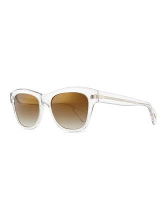 Sofee Rounded Sunglasses, Crystal