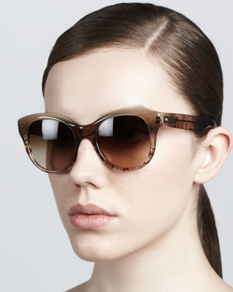 Jacey Gradient Sunglasses, Pecan Pie
