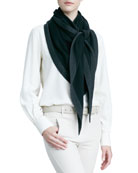 Scialle Flamenco Cashmere-Silk Shawl, Black