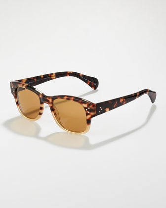Jannsson Two-Tone Sunglasses, Tortoise