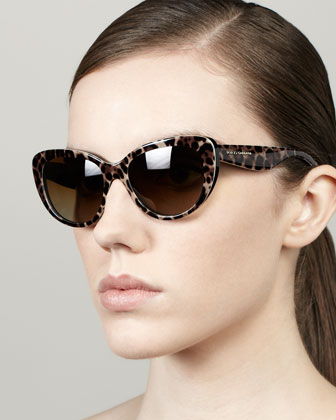 Leopard-Print Polarized Sunglasses