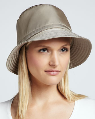 Water-Repellant Rain Hat, Taupe