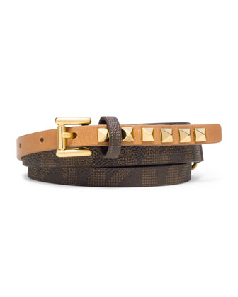 Pyramid-Stud Logo Belt