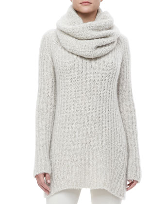 Knit Tunic Sweater, Pull-On Leggings & Cashmere-Silk Cowl