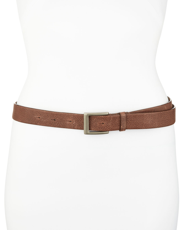 Textured Leather Belt, Brown   Brunello Cucinelli   Brown (XL/46)