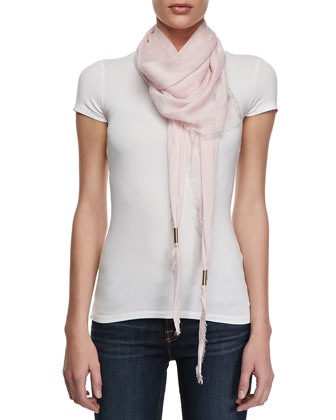Trigon Acantha Scarf, White/Pink