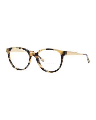 Round Optical Frames, Spotty Tortoise