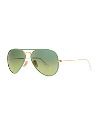 Aviator Gradient Sunglasses, Green