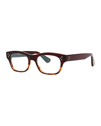 Artie Rectangular Optical Frame, Red