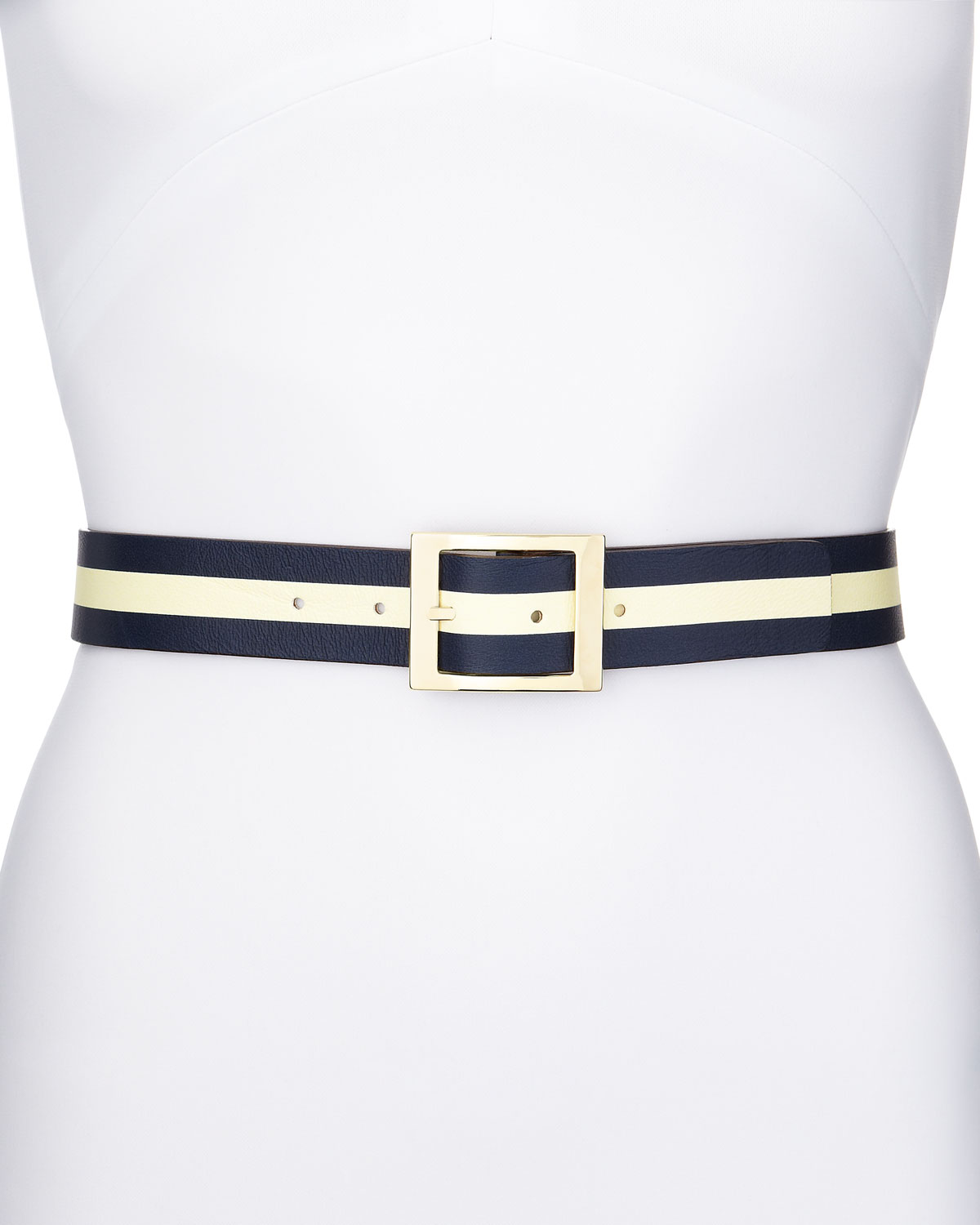 jeans reversible dot/stripe belt   kate spade new york   Navy (SMALL)