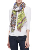 Paisley Elephant Scarf, Multicolor