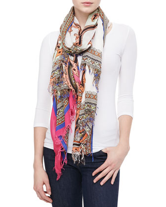 Paisley Monkey Scarf, Multicolor