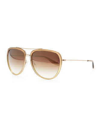 Universal Fit Rio Aviator Sunglasses, Golden
