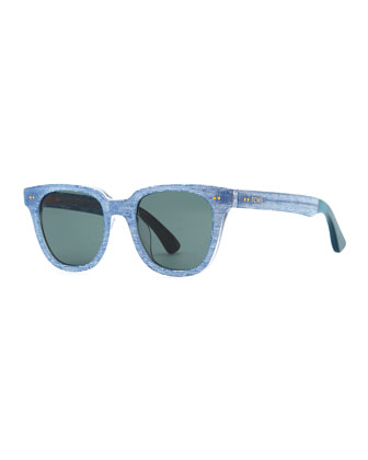Memphis Chambray Sunglasses, Light Blue