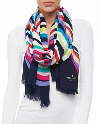 brighton wave scarf, multicolor