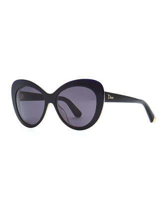 Promesse 1 Cat-Eye Sunglasses, Black