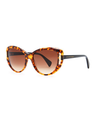 McQueen Cat-Eye Frames, Havana/Black