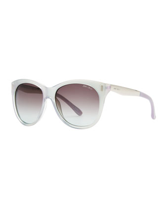 Ally Cat-Eye Sunglasses, Silver